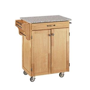 Cuisine Cart Natural Finish SP Granite Top