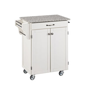 Cuisine Cart White Finish SP Granite Top