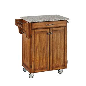 Cuisine Cart Warm Oak Finish SP Granite Top