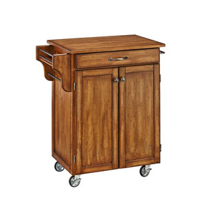 Cuisine Cart Warm Oak Finish with Oak Top