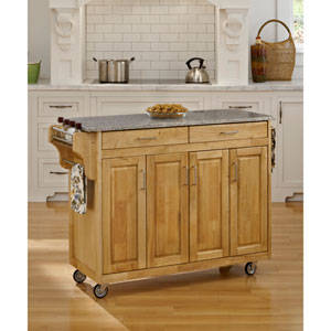 Create-a-Cart Natural Finish SP Granite Top