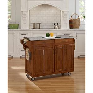 Create-a-Cart Cottage Oak Finish SP Granite Top
