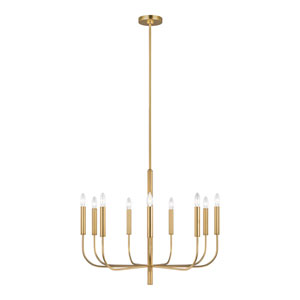Brianna Burnished Brass Nine-Light Chandelier