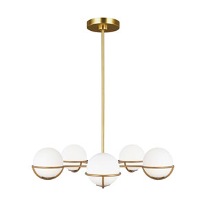 Apollo Burnished Brass Five-Light Chandelier