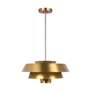 Brisbin Burnished Brass One-Light Pendant