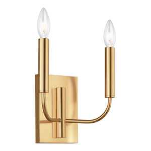 Brianna Burnished Brass Two-Light Wall Sconce