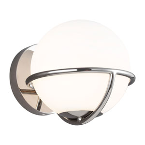 Apollo Polished Nickel One-Light Wall Sconce
