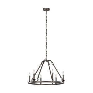 Landen Smith Steel Six-Light Chandelier