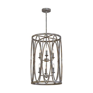 Patrice 25-Inch Deep Abyss Six-Light Chandelier