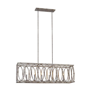 Patrice 15-Inch Deep Abyss Six-Light Chandelier