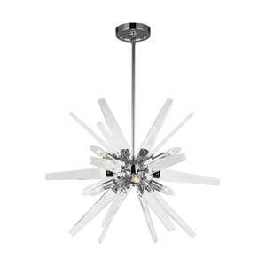 Thorne Chrome Six-Light Chandelier