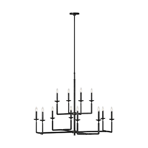 Ansley Aged Iron 12-Light Chandelier