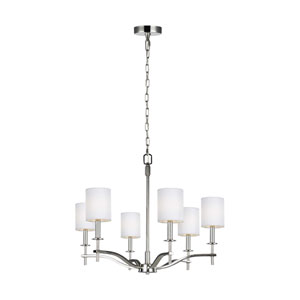 Hewitt Polished Nickel Six-Light Chandelier