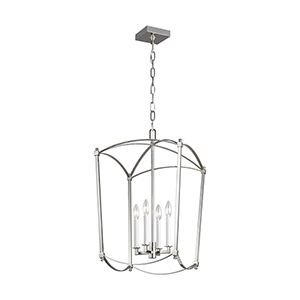 Thayer Polished Nickel Four-Light Chandelier