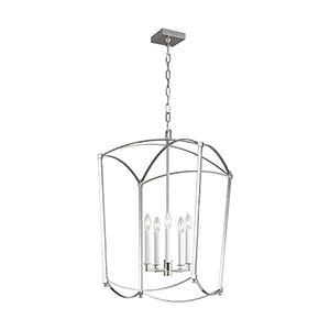 Thayer Polished Nickel Five-Light 19-Inch Chandelier