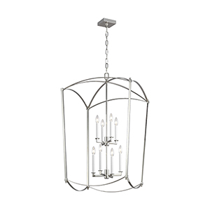 Thayer Polished Nickel Eight-Light Chandelier