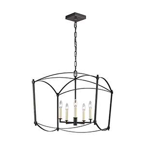 Thayer Smith Steel Five-Light 23-Inch Chandelier