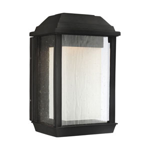 McHenry Textured Black 11-Inch LED Outdoor Wall Sconce