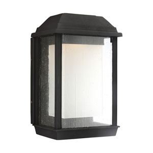 McHenry Textured Black 13-Inch LED Outdoor Wall Sconce