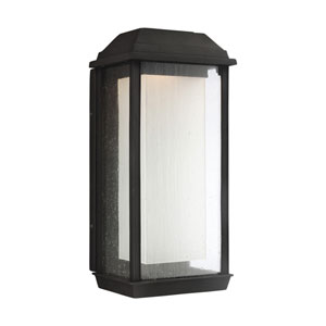 McHenry Textured Black 18-Inch LED Outdoor Wall Sconce