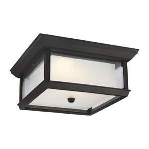 McHenry Textured Black LED Outdoor Flush Mount