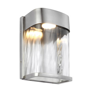 Bennie Painted Brushed Steel Eight-Inch LED Outdoor Wall Sconce