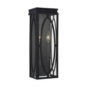 Patrice Dark Weathered Zinc Two-Light Outdoor Wall Mount