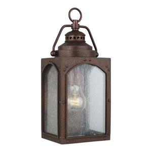 Randhurst 13-Inch Copper Oxide One-Light Outdoor Wall Lantern