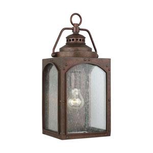 Randhurst 16-Inch Copper Oxide One-Light Outdoor Wall Lantern