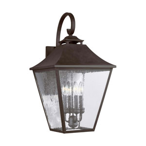 Galena 25-Inch Sable Four-Light Outdoor Wall Lantern