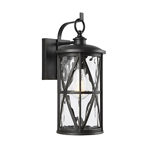 Millbrooke Antique Bronze One-Light Eight-Inch Outdoor Wall Sconce