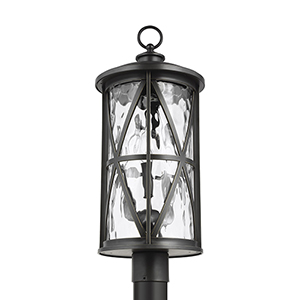 Millbrooke Antique Bronze Three-Light Outdoor Post Lantern