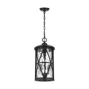 Millbrooke Antique Bronze Three-Light Outdoor Pendant