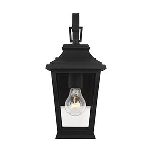 Warren Textured Black One-Light Outdoor Wall Lantern