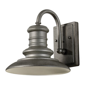Redding Station Tarnished Silver Nine-Inch LED Outdoor Wall Sconce