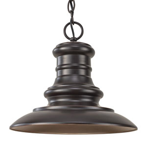Redding Station Restoration Bronze LED Outdoor Pendant