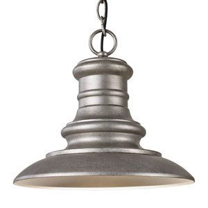 Redding Station Tarnished Silver LED Outdoor Pendant