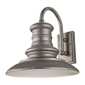 Redding Station Tarnished Silver 15-Inch LED Outdoor Wall Sconce