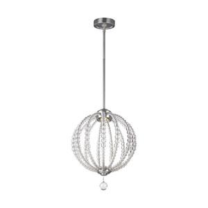 Oberlin Satin Nickel 14-Inch LED Globe Pendant