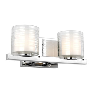 Volo Chrome Two-Light Bath Vanity