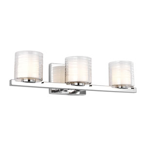 Volo Chrome Three-Light Bath Vanity