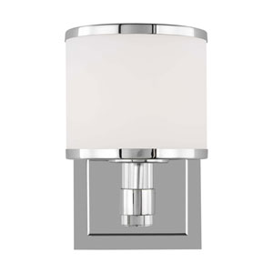 Winter Park Chrome One-Light Bath Sconce