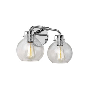 Clara Chrome Two-Light Bath Vanity