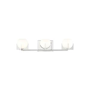 Abbott Polished Nickel Three-Light LED Wall Bath Vanity