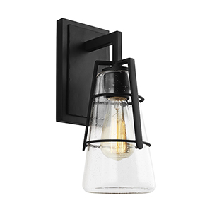 Adelaide Midnight Black One-Light Wall Sconce