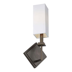 Myron Antique Bronze One-Light Bath Wall Sconce