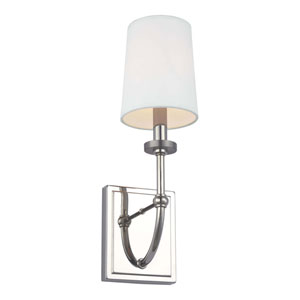 Stowe Polished Nickel One-Light Bath Wall Sconce