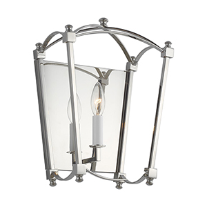 Thayer Polished Nickel One-Light Wall Sconce