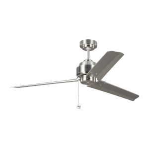Arcade Brushed Steel 54-Inch Ceiling Fan