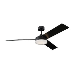 Cirque Midnight Black 56-Inch LED Indoor Outdoor Ceiling Fan